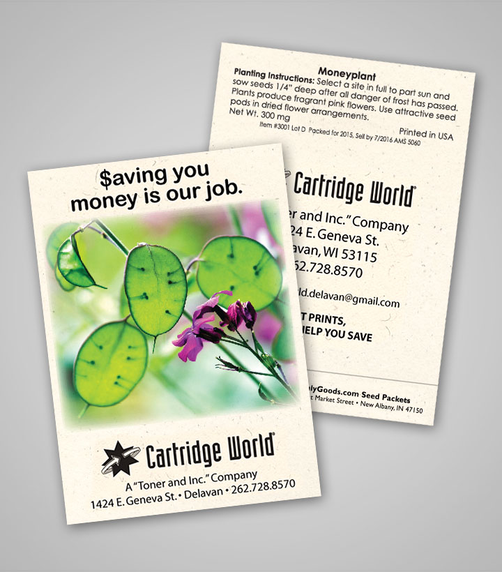 Money Plant Personalized Seed Packets
