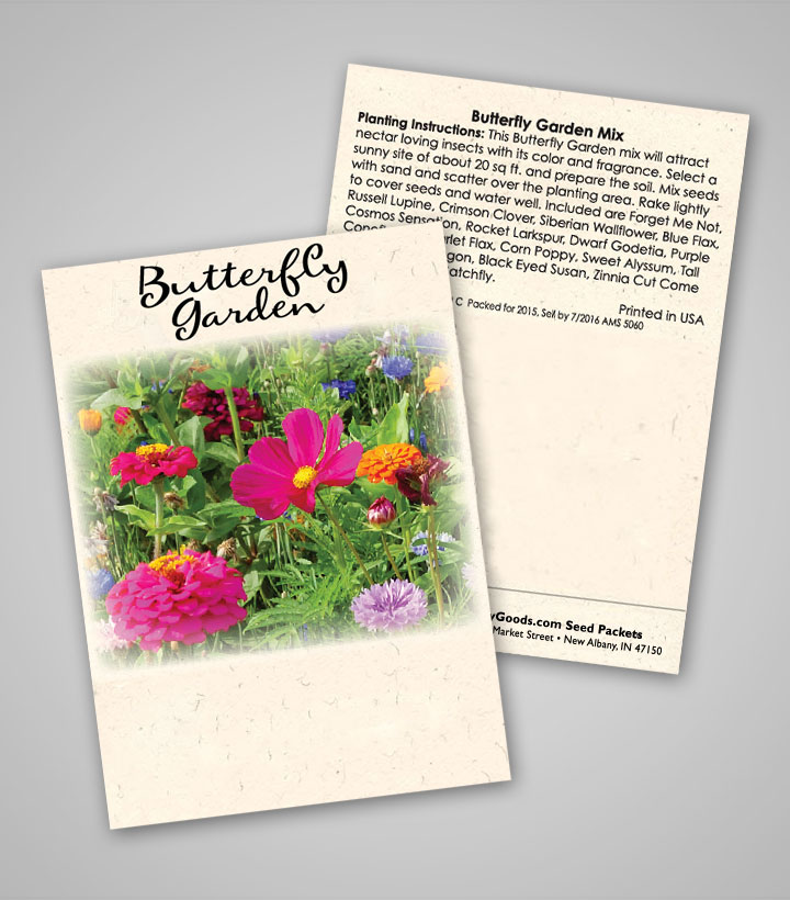 Butterfly Garden Ready-To-Ship Seed Packets