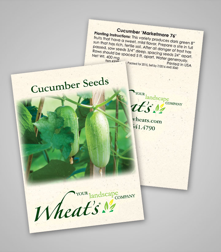 Cucumber Marketmore 76 Personalized Seed Packets
