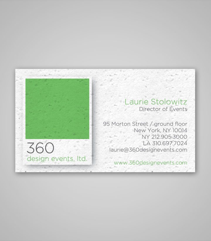 Seed Paper Business Cards - 2\