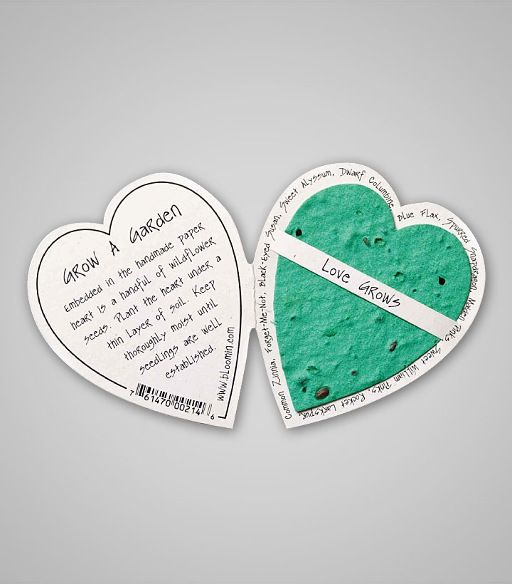 Seed Paper Enclosure Card Heart 1